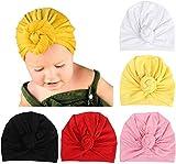 Qhome Baby Girls Flower Turban Hat Kids Vintage Floral Cotton Beanie Headband Children Caps Baby Bandana
