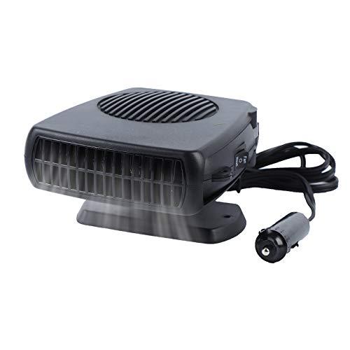 Haiabei Portable Car Heater Fan,Plug-in Anti-Fog 150W 12V Car Fan Windshield Defroster Automobile Heater Warmer Vehicle Demister Fast 2 in 1 Heating Cooling Dryer Auto 360-degree Rotation Heater Fan