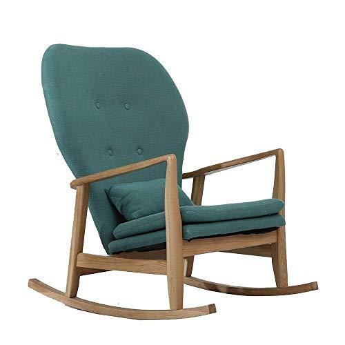 ZJN-JN Sedia Comoda Sedia a Dondolo Relax Rocking Chair Lounge Chair Relax Chair for la casa el'ufficio Relax Chair (Colore: Verde, Dimensione: 60x93x81cm)