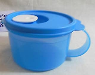 Tupperware CrystalWave Soup Mug 2 Cup in Clear Azure Blue