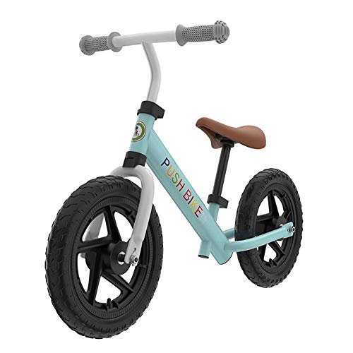 YGB lightweight Tricycle PresentKids Trike, 12' Aluminum Alloy Children's Balance Bicycle lightweight Two-Wheeled Baby Training Walking Bike with Adjustable Seat for Kids and Toddlers,A