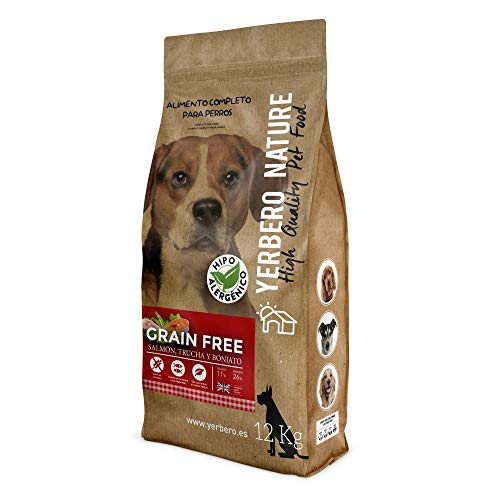 YERBERO Nature Grain Free salmón/Trucha Comida para Perros SIN Cereales 12kg