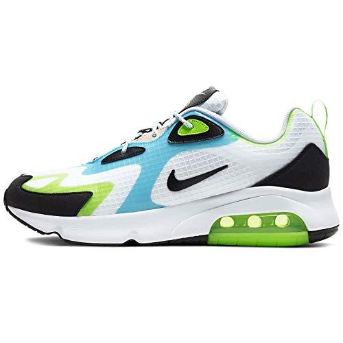 Nike Air Max 200 Se Zapatillas de correr para hombre Cj0575-101, Blanco (Blanco/Negro-Eléctrico Verde-Oracle Aqua), 43 EU
