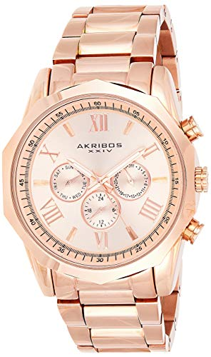 Akribos Designer Men's Watch – Stylish Genuine Leather or Stainless-Steel