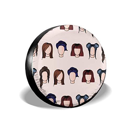 HHHello-Griend-Shop Reserveradabdeckungen Damenfrisuren Wasserdicht Staubdichter Sonnenschutz Universal-Radabdeckungs-Passform