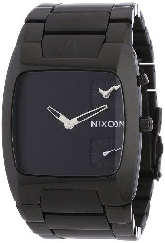 Nixon Men's 'Banks' Swiss Quartz Stainless Steel Watch, Color:Black (Model: A060001-00)