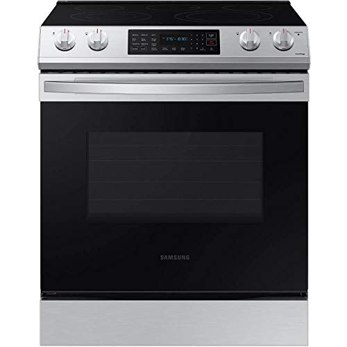 Samsung NE63T8311SS 6.3 cu. ft. Front Control Slide-In Electric Range with Convection & Wi-Fi