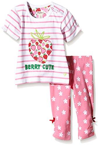 Hatley Infant Tee & Legging Set-Strawberry Sundae - Ensemble - Bébé fille, Multicolore (Pink), 18 mois