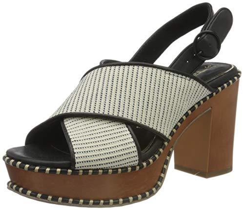 Tamaris Damen 1-1-28323-24 Sandale mit Absatz, White Comb, 39 EU