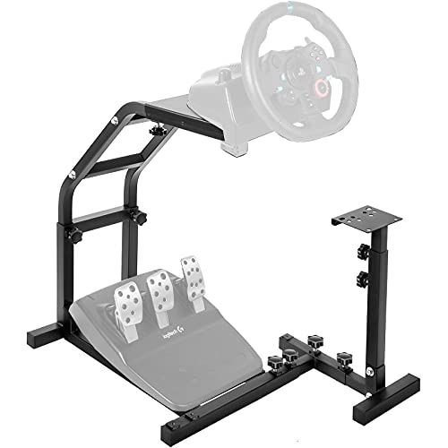 Marada Racing Wheel Stand with V2 Support Game Support Stand Up Simulation Driving Bracket for Logitech G29, G27 and G25 Racing Simulator Steering Wheel Stand Without Wheel and Pedals(Only Stand)