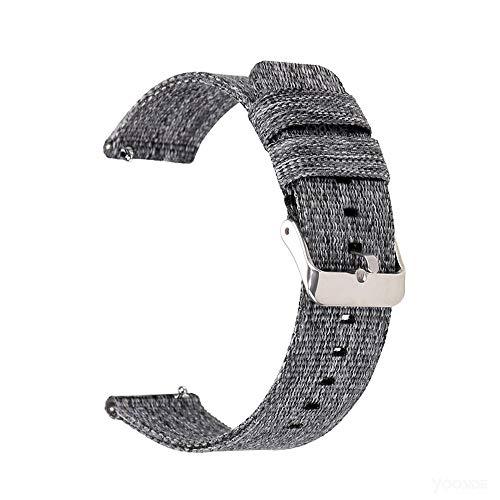 YOOSIDE für Garmin Venu/Vivoactive 3 Armband,20mm Gewebtes Nylon Comfortable Ersatzarmband Uhrenarmband für Garmin Venu Sq,Samsung Galaxy Watch3 41mm (Grau)