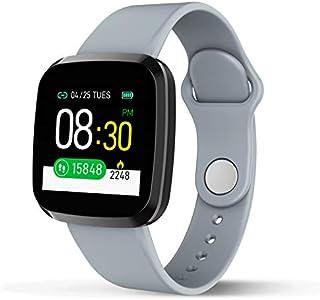 LINGJIA Pulsómetros Reloj Inteligente Ip67 Monitor De Frecuencia Cardíaca A Prueba De Agua Modelo De Deporte Múltiple Rastreador De Ejercicios Hombre Mujer Reloj Inteligente Portátil Gris