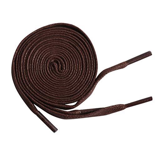 Outflower Baumwoll Schnürsenkel - gewachste Wasserdichte Lederschuhe Schnürsenkel, Dunkelbraun, ø 0,8 cm, Länge 1,5 m