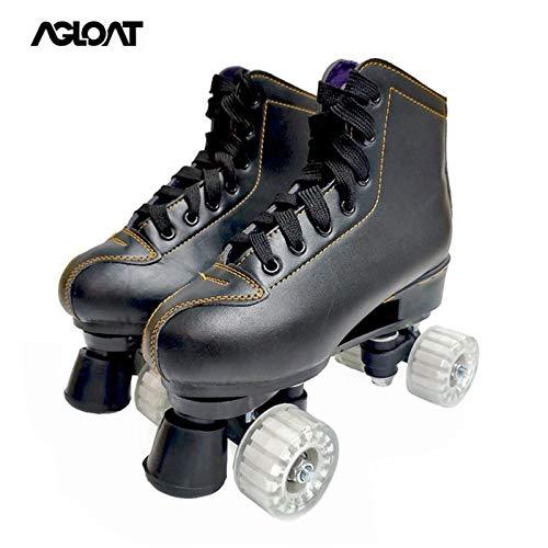 CHXY Inline-Skates,Roller Skates,Roller Skates Damen,Outdoorschuhe Gymnastik Mode Turnschuhe Für Kinder Mädchen Junge Erwachsene,Black-43