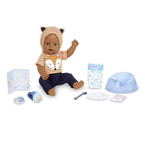 Baby Born Interactive Boy – Brown Eyes with 9 Ways to Nurture