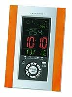 ADESSO(アデッソ) 電波デジタル目覚まし時計 カラー表示 天気予報機能付き 温度・気圧表示 ブラウン C-8211
