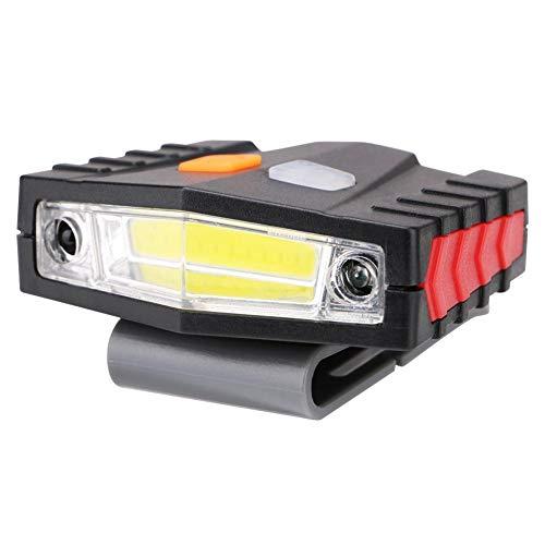 Broadroot Clip de COB LED en la Tapa Linterna Ligera Ciclismo Senderismo Sombrero de Cabeza a Prueba de Agua