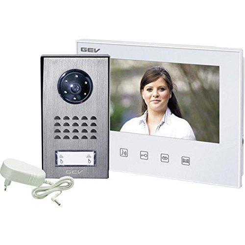 GEV 1-Familienhaus Video-Türsprechanlage CVS 88344, 230 V, Silber Weiss