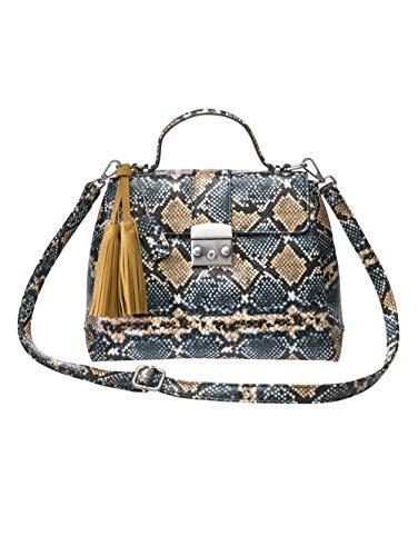 Turned Love Handtasche in Schlangenoptik beige/blau/schlang