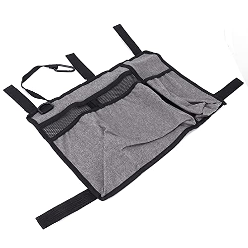 Bolsa para colgar en silla de ruedas, bolsa de andador gris con cremallera suave para exteriores para almacenamiento