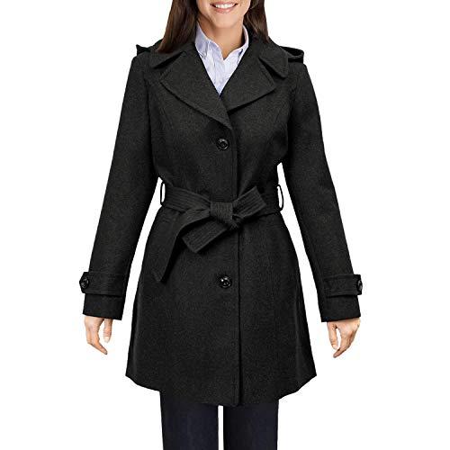 London Fog Wool Walker Coat Charcoal