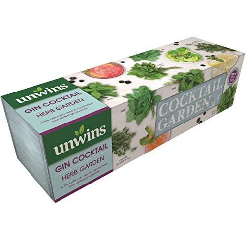Unwins Gin Cocktail Herb Garden Seed Kit, Duck Egg Blu