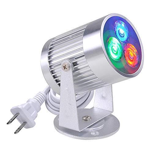 Mini Aluminum 3W RGB LED Disco Pinspot Light Spotlight Beam Pin Spot Family Party DJ Bar KTV Stage Ball Lighting Shining Down Décor 90-240V