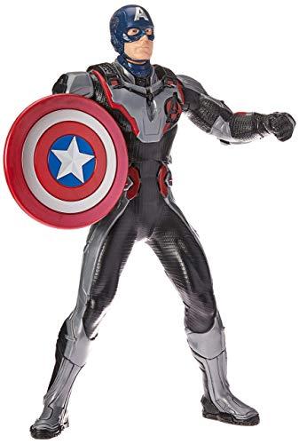 Boneco Capitão América Eletrônico, Avengers, Prateado/Azul