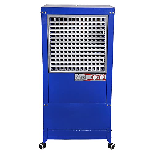 Air king 90 L Tower Air Cooler (Blue, 90 Liter Air Cooler Large Cooling Capacity Inverter Operated   Turbo Fan Technology   Honey Comb Pad With Plastic Net)