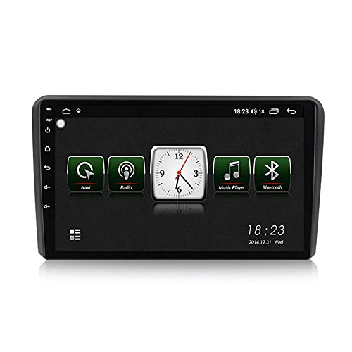 KLL Car Radio 2 DIN Navegador GPS Android para Audi A3 2006-2012 HD Pantalla táctil con Mirror Link DSP Radio FM/Am Built-in carplay Manos Libres Bluetooth