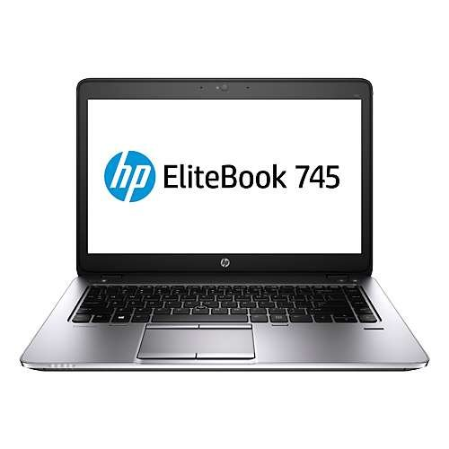 "HP EliteBook 745 G2 14' LED Notebook J5N80UT#ABA (14"" Display, AMD Pro-7350B 2.1GHz, 4GB RAM, 180GB SSD, Bluetooth 4.0, Media Car Reader, Webcam, Windows 7 Pro 64)"