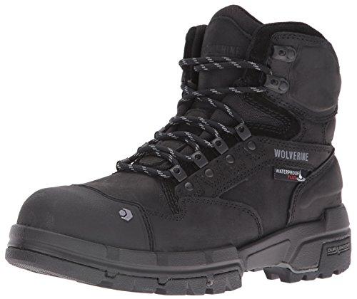WOLVERINE mens Legend 6 Inch Waterproof Comp Toe-m Work Boot, Black, 10.5 US