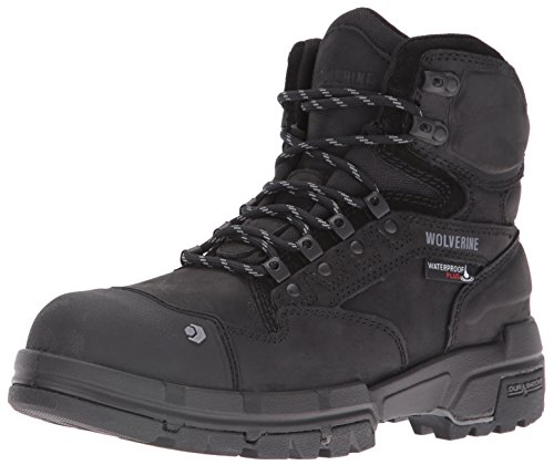 Wolverine Men's Legend 6 Inch Waterproof Comp Toe-M Work Boot, Black, 10.5 M US