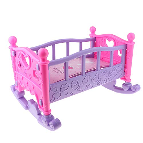 Cuna Mecedora Multicolor para Cuna para Muebles De Dormitorio De La Casa De Muñecas Mellchan