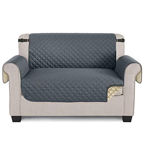 TAOCOCO Funda para sofá ,Funda Protectora para sofá para Mascotas Funda Deslizante, Almohadilla de protección contra Desgaste y Grietas-Gris, 2 Plaza