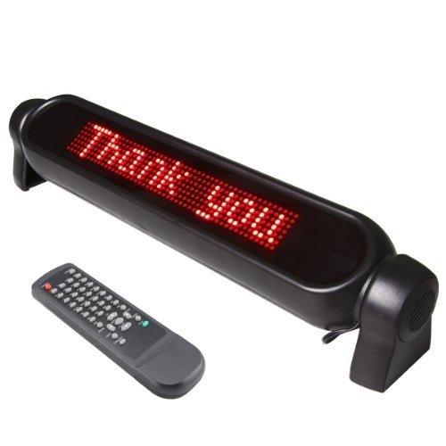 DecentGadget 12V Digital Car LED light Message Moving Scrolling Sign Display Messaggio di luce a LED 12V Digital Car Moving Scrolling Segno di visualizzazione