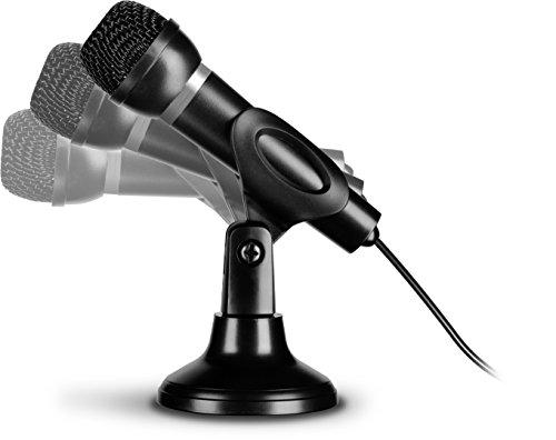 Speedlink CAPO USB Desk & Hand Microphone - Tisch- und Handmikrofon mit USB-Anschluss für Büro, Gaming, Podcasts - integrierter Soundchip, schwarz