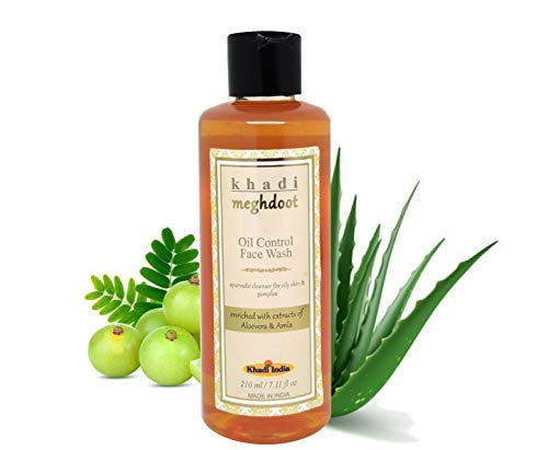 KHADI MEGHDOOT Oil Control Face Wash with Aloevera and Amla (210 ml)