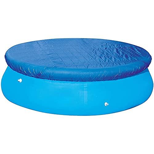 Whuooad Cubierta de Piscina Redonda Azul, Cubierta de Piscina a Prueba de Lluvia de Verano, paño de Cubierta de Piscina Plegable Grueso para la Piscina al Aire Libre del jardín casero