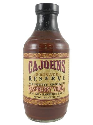 Ca John's Mesquite Smoked Raspberry Vodka New-Mex BBQ Sauce