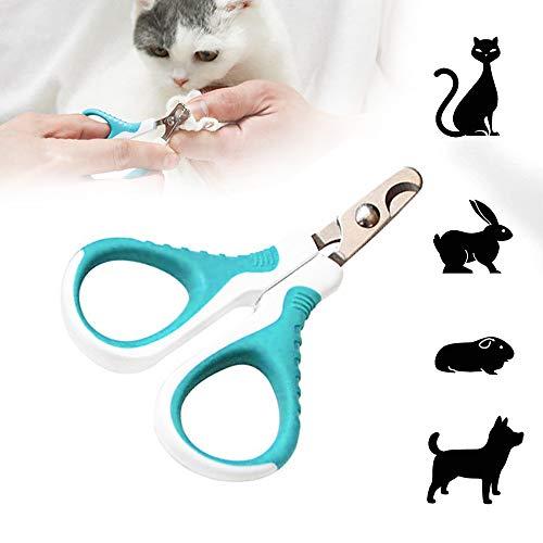 longyisound Tijeras de garras para perros, gatos y animales pequeños, 9,5 cm/3,74 pulgadas, acero inoxidable de alta calidad, cortador de garras para recortar suavemente y cuidado de las patas