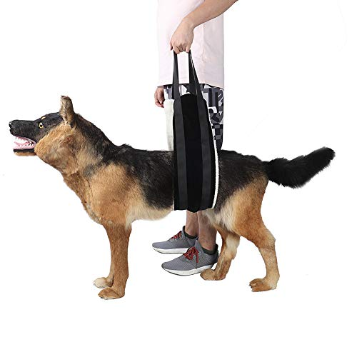 HNYG Dog Lifting Harness Sling for Rear Legs, Dog Lifter, Pet Sling, Dog Leg Brace, Black
