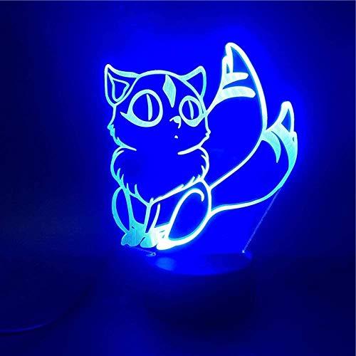 Preisvergleich Produktbild ZWANDP 3D-Illusionslampe LED-Nachtlicht Kir Inuyasha Geschenk Helle Basis Bürobedarf Direktbüro-Atmosphäre Beste Geburtstags-Weihnachtsgeschenke für Kinder