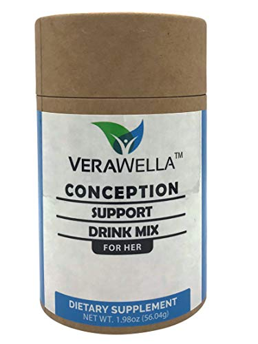 VERAWELLA Conception Support Drink Mix   Fertility Supplement for Women  Natural Conception Support Supplement   PCOS Fertility Supplement.