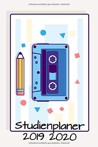Studienplaner 2019 2020: Studienkalender Semesterplaner A5 Kassette Bleistift - planen, notieren und erledigen. Struktur & Produktivität mit Notizbereichen / Okt 2019 – Dez 2020
