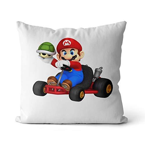 Cojín de Super Mario Sports Printing Game Caracteres Salón Cojín Home Decoration Auto Sofá Cama Home Bed Cojín 35 x 35 cm