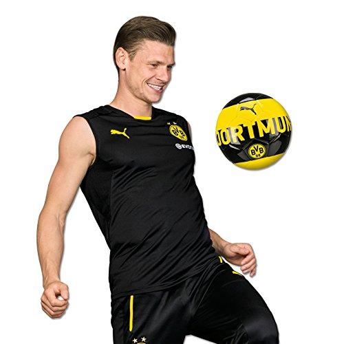 PUMA Herren BVB SL Training Jersey with Sponsor Logo T-Shirt, Black-Cyber Yellow, XL