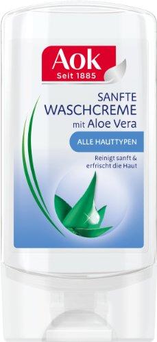 Aok Sanfte Waschcreme mit Aloe Vera, 3er Pack (3 x 150 ml)
