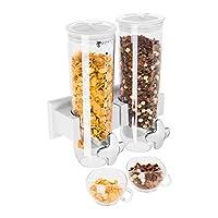 Contenitori da 1,5 l Ciotole incluse Chiusura ermetica In plastica trasparente Vaschetta in argento cromato per raccogliere briciole o gocce di latte