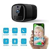 FREDI 小型カメラWiFi隠しカメラ 1080P超高画質防犯カメラ 人感センサー監視カメラ長時間録画録音ネットワークミニカメラ リアルタイム遠隔監視 WiFi対応 動体検知暗視機能 iOS/Android遠隔監視・操作可能 日本語取扱